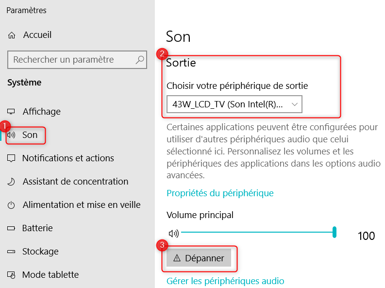 depanner-sortie-son-windows10